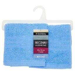 Ręczniki łazienkowe 30 cm x 30 cm niebieskie 2 sztuki