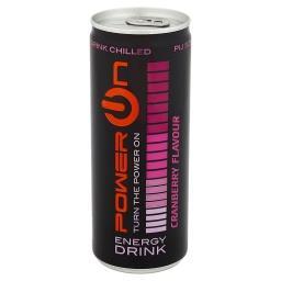 Gazowany napój energetyzujący o smaku żurawiny