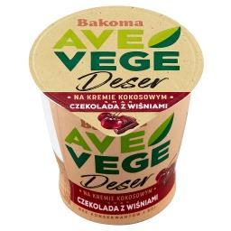 Ave Vege Deser na kremie kokosowym smak czekolada z wiśniami
