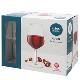 Kieliszki do wina czerwonego Rubin 530ml kpl. 6szt