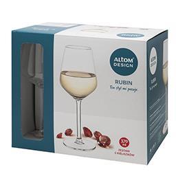 Kieliszki do wina białego Rubin 370ml kpl. 6szt