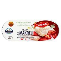 Filety z makreli w sosie pomidorowym z suszonymi pom...