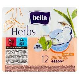 Herbs Plantago Podpaski higieniczne 12 sztuk