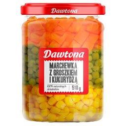 Marchewka z groszkiem i kukurydzą