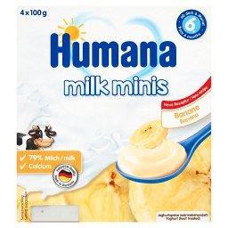 Milk Minis Deserek jogurtowy o smaku bananowym od 6. miesiąca 400 g