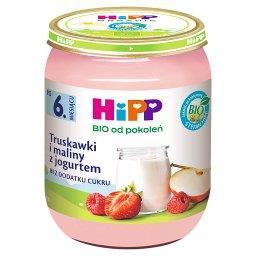 BIO Truskawki i maliny z jogurtem po 6. miesiącu 160...