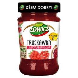 Produkt owocowy truskawka z czerwoną porzeczką