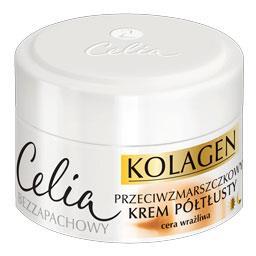 Celia Kolagen przeciwzmarszczkowy krem półtłusty z k...
