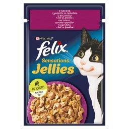 Sensations Jellies Karma dla kotów z kaczką w galaretce ze szpinakiem