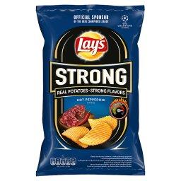 Strong Chipsy ziemniaczane karbowane o smaku pikantn...