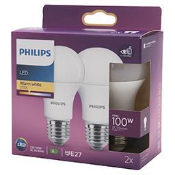 Żarówka LED 13–100 W E27 2700K 1521lm 2 sztuki biała...