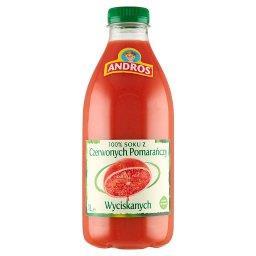 100 % sok z czerwonych pomarańczy wyciskanych