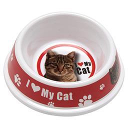 Miska plastikowa dla kota z nadrukiem 14,5 x 5 cm 0,15 l mix wzorów