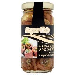 Prestige Rolowane filety anchovies z kaparami w olej...