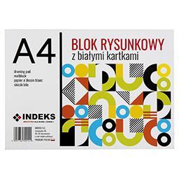 Blok rysunkowy A4, 20 kartek, biały