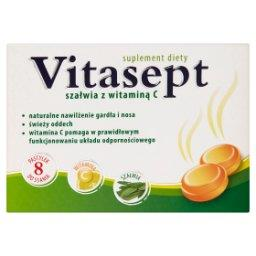 Szałwia z witaminą C Pastylki do ssania Suplement diety 28 g (8 pastylek)