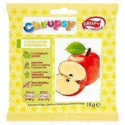 Chrupsy Suszone chipsy z jabłka z przecierem bananow...