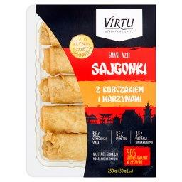 Smaki Azji Sajgonki z kurczakiem i warzywami 250 g + sos słodko-kwaśny 30 g