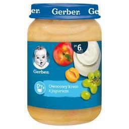 Owocowy krem z jogurtem dla niemowląt po 6. miesiącu