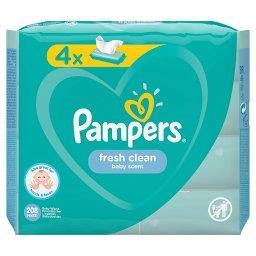 Fresh Clean Chusteczki nawilżane dla niemowląt 4 opakowania = 208 chusteczek nawilżanych