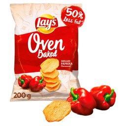 Oven Baked Pieczone formowane chipsy ziemniaczane o smaku grillowanej papryki