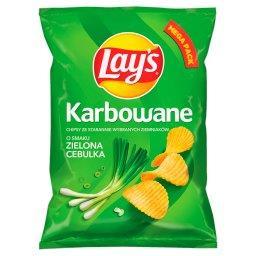 Chipsy ziemniaczane karbowane o smaku zielona cebulk...