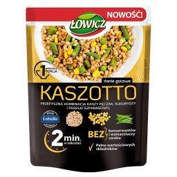 Kaszotto kasza pęczak z kukurydzą i fasolą szparagow...