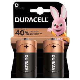 Alkaliczne baterie D, 2 szt. w opakowaniu
