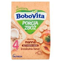 Porcja Zbóż Kaszka mleczna manna brzoskwinia-banan p...