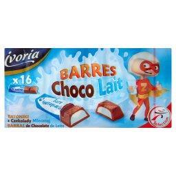 Batoniki z czekolady mlecznej 16 sztuk