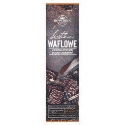 Listki waflowe w deserowej czekoladzie z kremem czek...