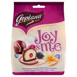 Joy & Me Smakołyki waflowe waniliowe z nadzieniem z owoców leśnych