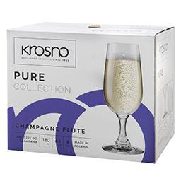 Kieliszki do szampana Pure 180ml kpl. 6 sztuk