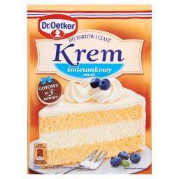 Krem do tortów i ciast smak śmietankowy