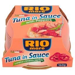 Tuńczyk w sosie z papryką