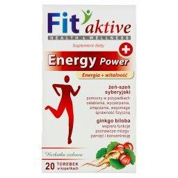 Fit aktive Energy Power Suplement diety herbatka zio...