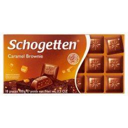 Czekolada mleczna z nadzieniem brownie z karmelem
