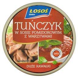 Tuńczyk w sosie pomidorowym z warzywami