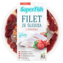 Filety ze śledzia z żurawiną