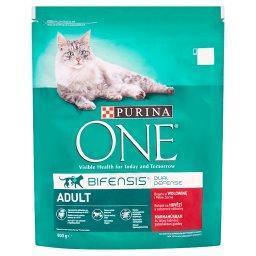 Adult Pełnoporcjowa karma dla dorosłych kotów bogata w wołowinę i pełne ziarna