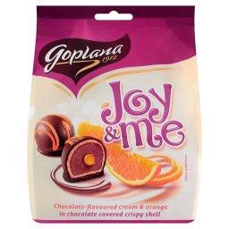 Joy & Me Smakołyki waflowe czekoladowe z pomarańczowym nadzieniem