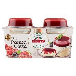 Panna Cotta z sosem z 5 czerwonych owoców  (2 sztuki...