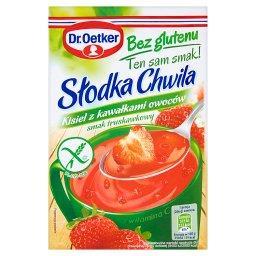 Słodka Chwila Kisiel z kawałkami owoców bez glutenu smak truskawkowy