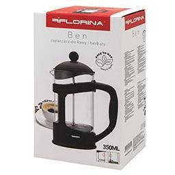 Zaparzacz Ben do kawy i herbaty 350 ml czarny