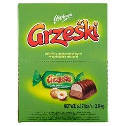 Cukierki o smaku orzechowym w czekoladzie mlecznej