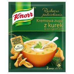 Rozkosze podniebienia Kremowa zupa z kurek ze szczyp...