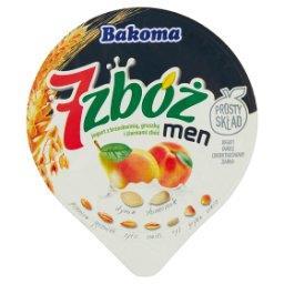 7 zbóż men Jogurt z brzoskwinią gruszką i ziarnami z...