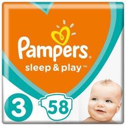 Sleep&Play, Rozmiar3, 58 Pieluszek, 6–10kg