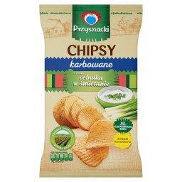 Chipsy karbowane o smaku cebulka w śmietanie