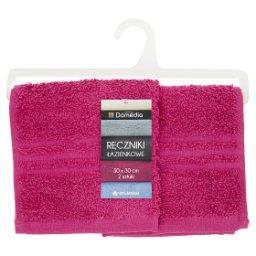 Ręczniki łazienkowe 30 cm x 30 cm fuksja 2 sztuki